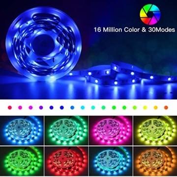SUNGYIN LED Strip Streifen Farbwechsel Lichterkette 12M RGB mit Fernbedienung und Bluetooth Kontroller Sync zur Musik, Anwendung für Schlafzimmer, Party und Feriendekoration[Energieklasse A+] - 2