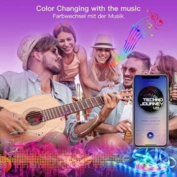 SUNGYIN LED Strip Streifen Farbwechsel Lichterkette 12M RGB mit Fernbedienung und Bluetooth Kontroller Sync zur Musik, Anwendung für Schlafzimmer, Party und Feriendekoration[Energieklasse A+] - 5
