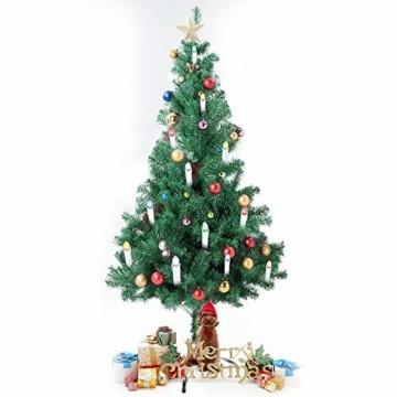 SunJas 10/20/30 er Weihnachten Kerzen RGB, kabellose Farbwechsel Weihnachtskerzen mit Fernbedienung, Weihnachtsbeleuchtung, LED Kerzen in 3 verscheidene Blinkeffekt, für Weihnachtsbaum - 2
