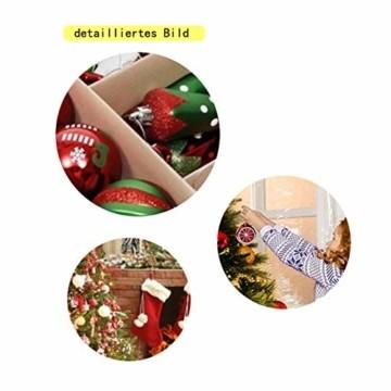 Sunshine smile 20 Stück Weihnachtskugeln,Christbaumkugeln Set Weihnachtlichen, Weihnachtskugeln Weihnachtsdeko,Weihnachtskugeln Baumschmuck,Weihnachtsbaumschmuck,Weihnachten Deko(Rot grün weiß) - 4