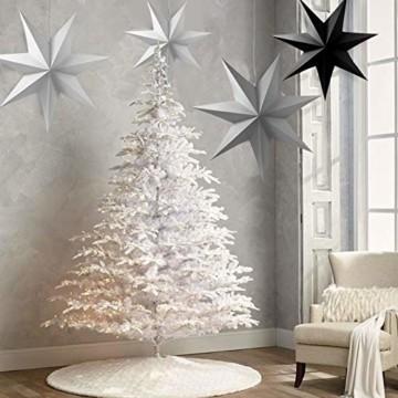 Sunshine smile 5pcs Papier Stern Dekoration,30cm Hänge-Deko aus Papier,faltsterne Weihnachten,3D Sterne Form für Weihnachten,Sterne Form Papier,Papierstern Weihnachtsdeko,Weihnachtstern Papier Dekor - 5