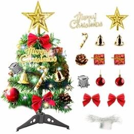 Sunshine smile Mini Weihnachtsbaum,30 cm Mini Weihnachts Baum mit LED Lichterketten,Mini Tannenbaum für Tisch,Weihnachtsbaum Miniatur,Künstlicher Weihnachtsbaum,Weihnachts Baum klein,Christbaum(A) - 1