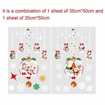 Sunshine smile Schneeflocken Fensterbild,PVC Fensterdeko Selbstklebend,Schneeflocken Fensterdeko,PVC Aufkleber,für Weihnachts-Fenster Dekoration,Vitrinen, Glasfronten,Schaufenster,Türen - 3
