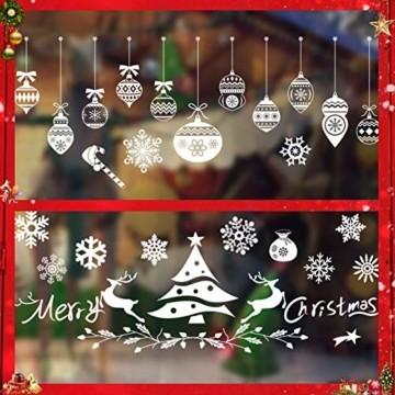 Sunshine smile Weihnachts-Fenster Dekoration,Fensterbilder Weihnachten,Schneeflocken Weihnachtsdeko,Weihnachtsdeko,Winter Dekoration,Schneeflocke Aufkleber Dekoration,Fensterdeko Schneeflocken - 1
