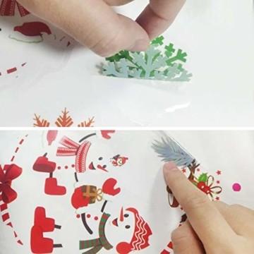 TaimeiMao Fensterbilder Weihnachten Selbstklebend,Fensterbilder Weihnachten,Weihnachtsdeko,Schneeflocken WeihnachtsdekoFensterdeko Schneeflocken,PVC Fensterdeko Selbstklebend,Weihnachten Fensterdeko - 3