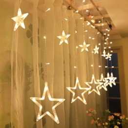 TaimeiMao lichtervorhang Fenster led,Lichtervorhang Lichter Weihnachtsbeleuchtung,Lichterkette,LED Lichterkette,LED Sterne Lichterkette,Lichtervorhang Fenster Sterne,LED Lichtervorhang Lichterkette - 1