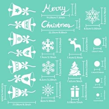 Telgoner Fensterbilder Weihnachten Selbstklebend, Fensterbild Weihnachten Wiederverwendbar, 160 Statisch Haftende Schneeflocken Winterdeko, Weihnachtsdeko Fensterbilder für Tür Schaufenster Vitrinen - 6