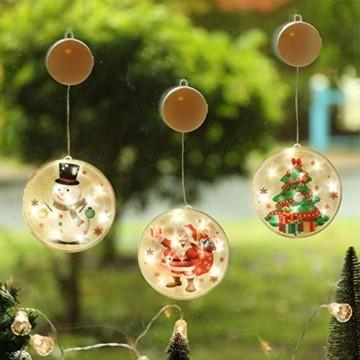 TIANHOO Weihnachtsdekoration LED String Licht Horror Lustige Fenster hängen Dekoration Bunte Laterne Kürbis Ghost Lights (Christmas Tree) - 3