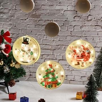 TIANHOO Weihnachtsdekoration LED String Licht Horror Lustige Fenster hängen Dekoration Bunte Laterne Kürbis Ghost Lights (Christmas Tree) - 4