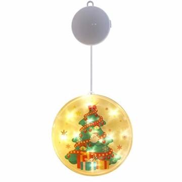 TIANHOO Weihnachtsdekoration LED String Licht Horror Lustige Fenster hängen Dekoration Bunte Laterne Kürbis Ghost Lights (Christmas Tree) - 1