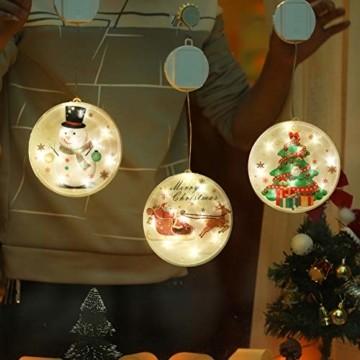 TIANHOO Weihnachtsdekoration LED String Licht Horror Lustige Fenster hängen Dekoration Bunte Laterne Kürbis Ghost Lights (Christmas Tree) - 5