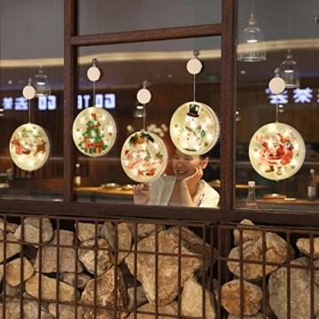 TIANHOO Weihnachtsdekoration LED String Licht Horror Lustige Fenster hängen Dekoration Bunte Laterne Kürbis Ghost Lights (Christmas Tree) - 6