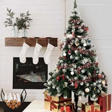 TopVita Künstlicher Weihnachtsbaum hochwertiger Tannenbaum Christbaum, mit Metallständer Material PVC, 150 cm Grün, Innen und Außenbereich - 2