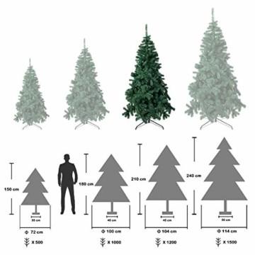 TopVita Künstlicher Weihnachtsbaum hochwertiger Tannenbaum Christbaum, mit Metallständer Material PVC, 150 cm Grün, Innen und Außenbereich - 4
