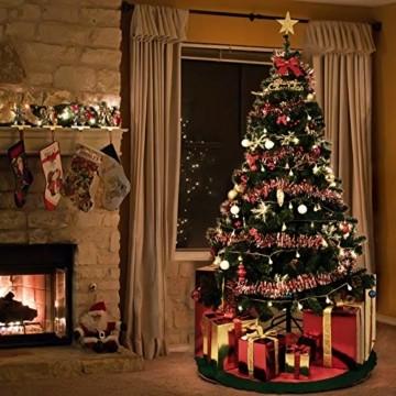 TopVita Künstlicher Weihnachtsbaum hochwertiger Tannenbaum Christbaum, mit Metallständer Material PVC, 150 cm Grün, Innen und Außenbereich - 6