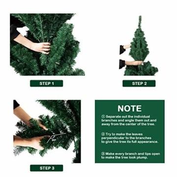 TopVita Künstlicher Weihnachtsbaum hochwertiger Tannenbaum Christbaum, mit Metallständer Material PVC, 150 cm Grün, Innen und Außenbereich - 7