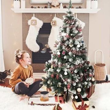 TopVita Künstlicher Weihnachtsbaum hochwertiger Tannenbaum Christbaum, mit Metallständer Material PVC, 150 cm Grün, Innen und Außenbereich - 8