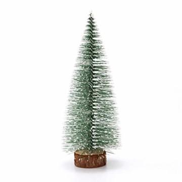 TOYANDONA 4 Stücke Künstlicher Weihnachtsbaum mit Schnee Mini Tannenbaum LED Christbaum Weihnachtsschmuck Tischdeko Weihnachtsdeko Baum - 4