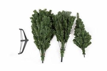 UMI. Essentials Weihnachtsbaum künstlicher Tannenbaum Christbaum Metallständer Schneller Aufbau mit Klappsystem Material PVC (Grün, 180cm) - 2
