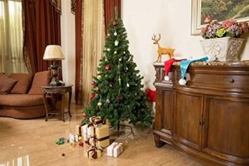 UMI. Essentials Weihnachtsbaum künstlicher Tannenbaum Christbaum Metallständer Schneller Aufbau mit Klappsystem Material PVC (Grün, 180cm) - 4