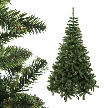 UMI. Essentials Weihnachtsbaum künstlicher Tannenbaum Christbaum Metallständer Schneller Aufbau mit Klappsystem Material PVC (Grün, 180cm) - 5