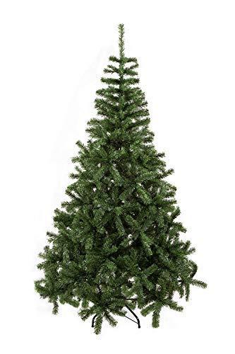 UMI. Essentials Weihnachtsbaum künstlicher Tannenbaum Christbaum Metallständer Schneller Aufbau mit Klappsystem Material PVC (Grün, 180cm) - 1