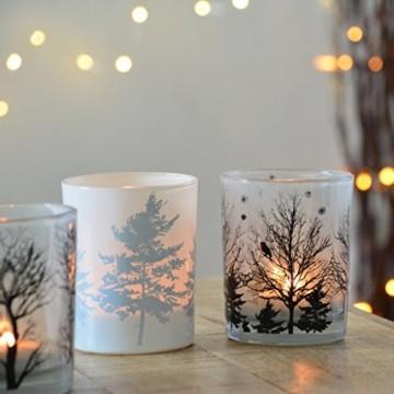 Vier große Teelichter aus Milchglas Windlicht candle Kerze Deko - 1