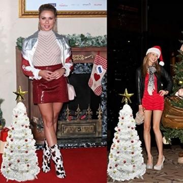 Vohoney Künstliche Weihnachtsbäume 58CM Mini Künstlicher Weihnachtsbaum Christbaum Baum Christmas Tree für Weihnachtsdekoration Zuhause und im Büro (Weiss Künstliche Weihnachtsbäume, 58CM) - 3