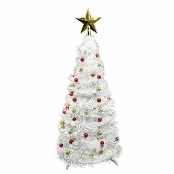 Vohoney Künstliche Weihnachtsbäume 58CM Mini Künstlicher Weihnachtsbaum Christbaum Baum Christmas Tree für Weihnachtsdekoration Zuhause und im Büro (Weiss Künstliche Weihnachtsbäume, 58CM) - 1
