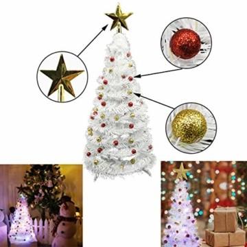 Vohoney Künstliche Weihnachtsbäume 58CM Mini Künstlicher Weihnachtsbaum Christbaum Baum Christmas Tree für Weihnachtsdekoration Zuhause und im Büro (Weiss Künstliche Weihnachtsbäume, 58CM) - 6