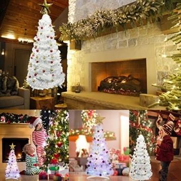 Vohoney Künstliche Weihnachtsbäume 58CM Mini Künstlicher Weihnachtsbaum Christbaum Baum Christmas Tree für Weihnachtsdekoration Zuhause und im Büro (Weiss Künstliche Weihnachtsbäume, 58CM) - 7