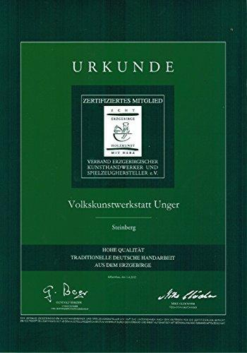 Volkskunstwerkstatt Unger Tischpyramide - Teelichtpyramide mit Seiffener Kirche - Echt Erzgebirge® 1810 - 2