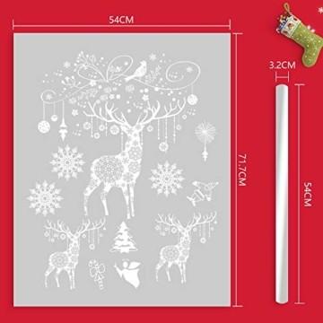 Weihnachten Fensterbilder, Fensterdeko Fensteraufkleber, Weihnachts Dekoration - DIY Schneeflocken Deko Weihnachtsmann Fensteraufkleber, Fensterfolie Selbsthaftend für Kinderzimmer und Vitrinen - 4