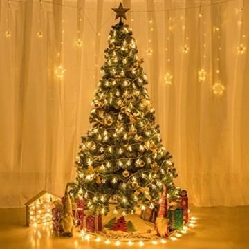 Weihnachten Lichterkette LED Schneeflocke Lichterkette Batterie 6M 40LED Warmweiß Lichterkette mit Fernbedienung 8 Modi Wasserdicht Außen Innen Lichterketten für Zimmer Party Garten DIY Deko Metaku - 6