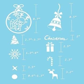 Weihnachts Schneeflocken Fensterbild Abnehmbare Fensterdeko Statisch Haftende PVC Aufkleber Winter Dekoration für Türen,Schaufenster, Vitrinen, Glasfronten - 9