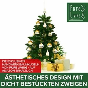 Weihnachtsbaum künstlich 120 cm – Dichte Zweige, einfacher Aufbau, Made in EU - Authentischer Christbaum mit Metallständer – Edle Nordmanntanne - Exklusiver Künstlicher Tannenbaum von Pure Living - 2