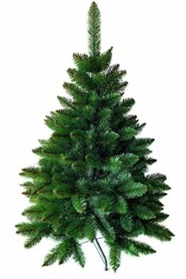 Weihnachtsbaum künstlich 120 cm – Dichte Zweige, einfacher Aufbau, Made in EU - Authentischer Christbaum mit Metallständer – Edle Nordmanntanne - Exklusiver Künstlicher Tannenbaum von Pure Living - 1