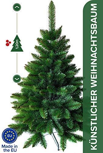 Weihnachtsbaum künstlich 120 cm – Dichte Zweige, einfacher Aufbau, Made in EU - Authentischer Christbaum mit Metallständer – Edle Nordmanntanne - Exklusiver Künstlicher Tannenbaum von Pure Living - 4