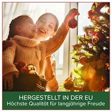 Weihnachtsbaum künstlich 120 cm – Dichte Zweige, einfacher Aufbau, Made in EU - Authentischer Christbaum mit Metallständer – Edle Nordmanntanne - Exklusiver Künstlicher Tannenbaum von Pure Living - 7