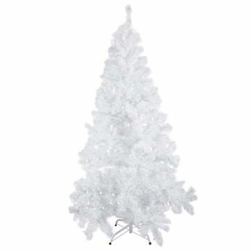 Weihnachtsbaum Weiss Künstlich Tannenbaum 210 cm Christbaum PVC Mit 25M Licht Metallständer - 1