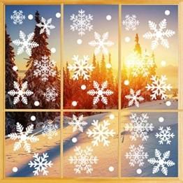 Weihnachtsdeko Fenster, 366 Schneeflocken Weihnachten Fensterbilder, Fenstersticker Fensteraufkleber PVC Fensterdeko Selbstklebend, für Türen Schaufenster Vitrinen Glasfronten Deko - 1