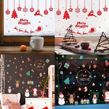 Weihnachtsdeko Fenster,Fensterbilder Weihnachten,Schneeflocke Fensteraufkleber,PVC Fensterdeko Selbstklebend,Weihnachts Fenster Dekoration,Aufklebe Weihnachtsmann,Schneeflocken Fenster,Fenstersticker - 7