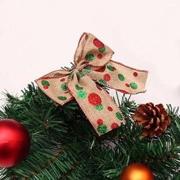 Weihnachtsgirlande mit Beleuchtung, Morbuy Tannengirlande Batterie Remote 8 Modus Lichterkette Weihnachten Dekoration 2.7 Meter für Innen und Außen Verwendbar (270cm,Warmweiß) - 7