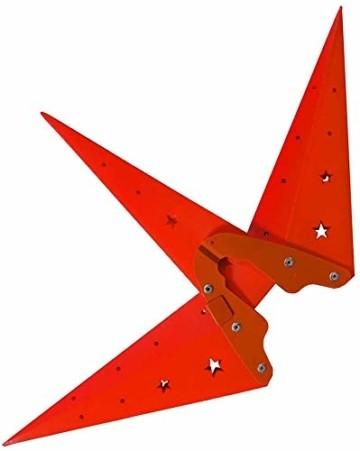 Weihnachtsstern 42cm Rot LED Batterie Adventsstern Außenstern 3D außen Stern Leuchtstern mit Timer - 3