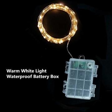 Weihnachtsstern 42cm Rot LED Batterie Adventsstern Außenstern 3D außen Stern Leuchtstern mit Timer - 4