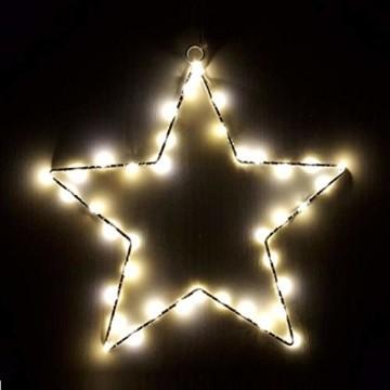 Weihnachtsstern Lichter, batteriebetriebene Dekorationen LED Lichterketten für Halloween Hochzeitszimmer Party Garten Warmweiß, 2er Pack - 6