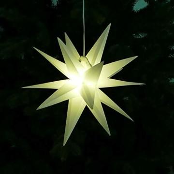 Weihnachtssterne 3er-Set LED Sterne weiß beleuchtet 25/25/35 cm warmweiß Weihnachtsbeleuchtung - 3