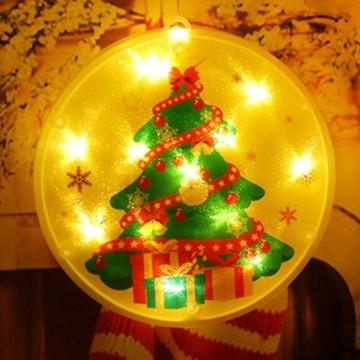 Weihnachtsvorhang LED-Lichterkette - 1,5 m x 0,5 m LED Lichtervorhang Fensterdekoration USB Hängeleuchte für Weihnachtsbaumdekoration, Wohnkultur, Schlafzimmer Außen Innen Fenster (warmweiß) - 3