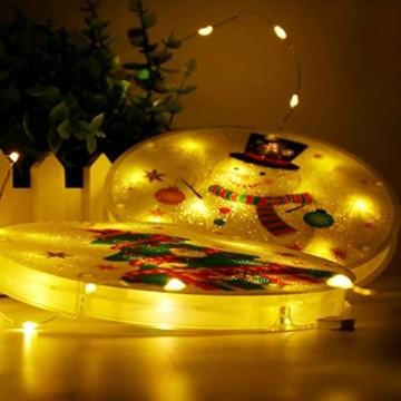 Weihnachtsvorhang LED-Lichterkette - 1,5 m x 0,5 m LED Lichtervorhang Fensterdekoration USB Hängeleuchte für Weihnachtsbaumdekoration, Wohnkultur, Schlafzimmer Außen Innen Fenster (warmweiß) - 8
