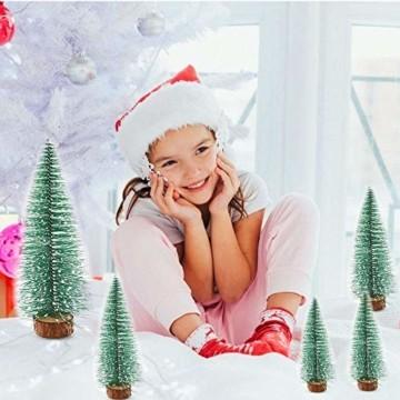 WELLXUNK® Weihnachtsbaum,Mini Weihnachts Baum,Christmasbaum Mini Grün,Weihnachtsbaum Miniatur,Künstlicher Weihnachtsbaum,Weihnachts Baum klein,Künstlich Klein Weihnachtsdeko - 3